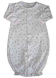 Kissy Kissy Baby Girls Garden Roses Print Convertible Gown- Newborn