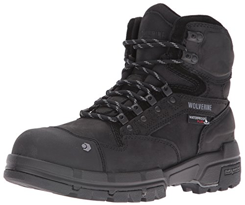 Wolverine Men's Legend 6 inch Waterproof Comp Toe Work Shoe, Black, 10.5 M US