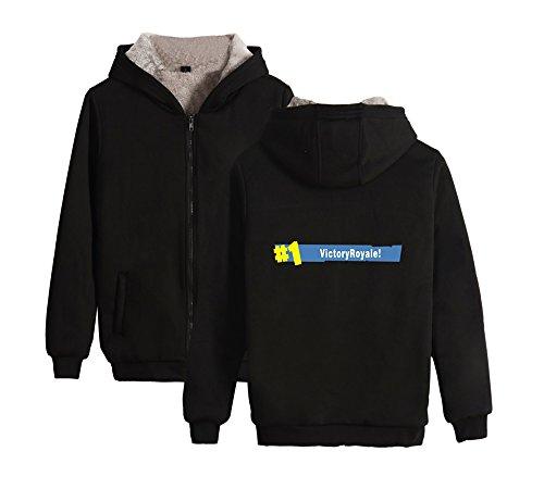 Black2 Zip Cappuccio Cappotto Per Invernale Con Outwear Comode Plus Donne Fortnite Unisex Uomini Cashmere E Aivosen UvxRnZ4z