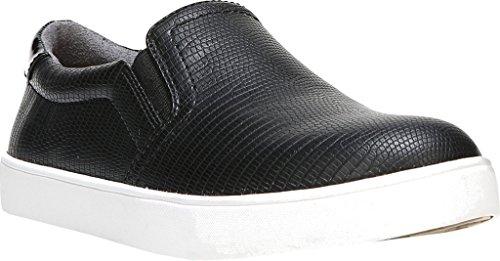 Dr. Scholl's Shoes Women's Madison Fashion Sneaker, Black/Black Lizard Print, 6 M US