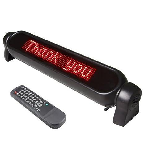 12V Digital Car LED light Message Moving Scrolling Sign Display//LED de 12V del coche de Digitaces Mensaje luz en movimiento de desplazamiento Entrar ...