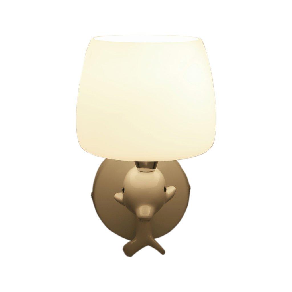 Unbekannt QIQIDEDIAN Wandleuchte Wohnzimmer Einfache Glas Ganglampe Dolphin Kinderzimmer Lampe (größe : A)
