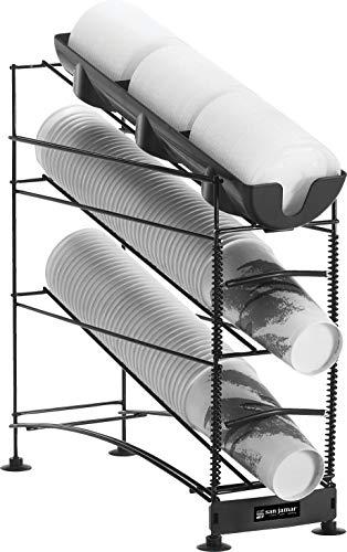 Amazon.com: San Jamar C8503WF Wireworks 3 Tier Cup Dispenser with Lid Tray: Industrial & Scientific