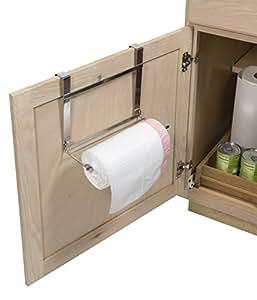 over the door garbage bag holder 10 by 8 chrome kitchen dining. Black Bedroom Furniture Sets. Home Design Ideas