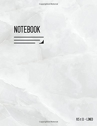 Lined Notebook 8.5 x 11: Journal Notebook Marble White with Date, Smart Design for Work, Blank, Ruled, Large, Letter Sized, Soft Cover, Numbered Pages (Calligraphy Lined Notebook Large)
