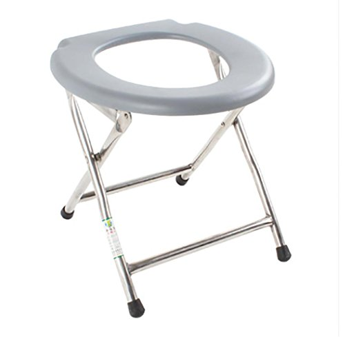 KanXin Pregnant Woman Take A Shower The Toilet Chairs Folding Stainless Steel Portable Toilet Stool Patient by YIMEI
