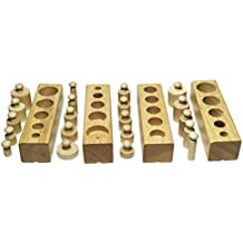 Montessori Wooden Cylinder Socket Family Pack Early Learning Education Toy by AnOs-Toys