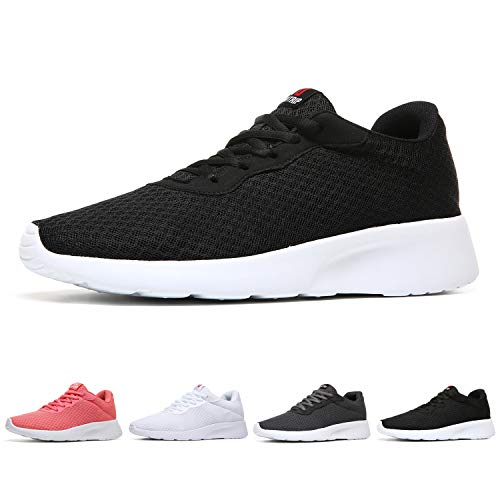 MAIITRIP Womens Gym Sneakers Casual Ladies Lightweight Fashion Walking Trail Running Outdoor Athletic Tennis Shoes Black White Size 7