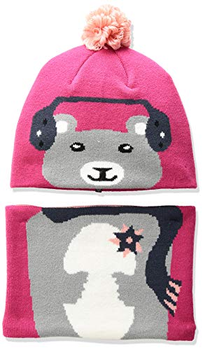 Columbia Baby Snow More Beanie and Gaiter Set Infantil, Cactus Pink Bear, Talla única