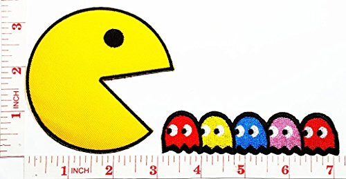 pac-man-comics-cartoon-kid-patch-jacket-polo-t-shirt-diy-applique-embroidered-sew-iron-on-patch
