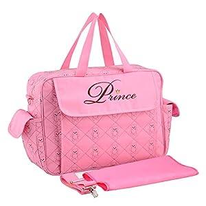 Baby Nappy Bag, Mommy Bag, Changing Bag, Messenger Bag Tote, Multifunction Waterproof Lightweight Stylish Travel Handbag…