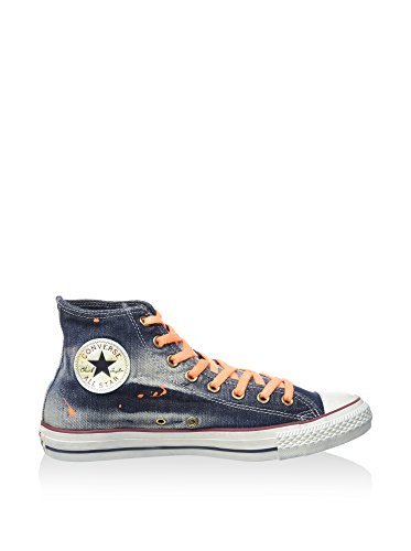 Converse Sneaker Alta All Star Hi Denim Blu Navy/Arancione EU 40 (US 7)