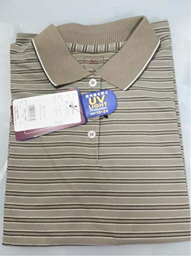 ミズノ レデイース シャインアップ ボーダー半袖 ポロシャツ M 73EL-11464 セージ