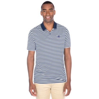 NIKE Men's Dry Victory Stripe Polo Golf Shirt, College Navy/White/Black, Small