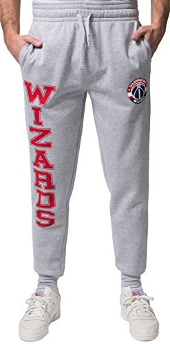 Nba Mens Washington Wizards Jogger Pants Active Basic Soft Terry Sweatpants  Small  Gray