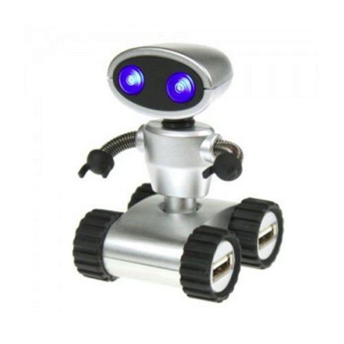 Robot Mini USB Hub PC Mac Compatible 4 Ports Desk Office 'Wall E' Robot Style