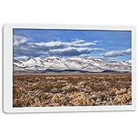 Quadro Decorativo para Sala - Montanhas Nevadas no Death Valley - Moldura Caixa 2.1 cm