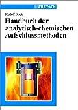 Handbuch der Analytisch-Chemischen Aufschlussmethoden, Rudolf Bock, 352729791X