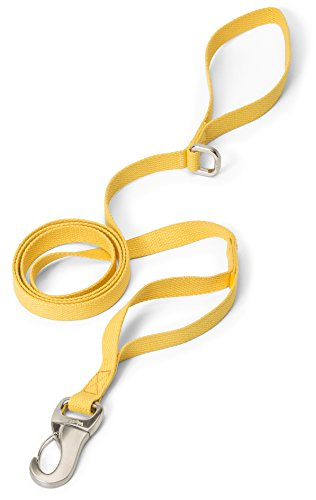 (West Paw Strolls Dog Leash with Hemp, Large, Goldenrod, Made in USA)