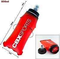 CBX Sports Botella de Agua Deportiva con pajilla 500ml Rojo Soft ...