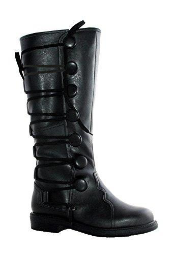 [Boots Ren Mens Bk Sz 8-9] (Bk King Costume)