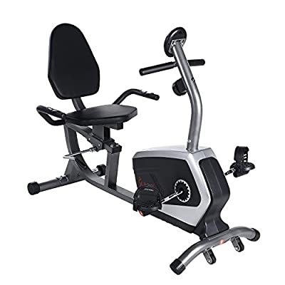 Easy Adjustable Seat Recumbent Bike w/ 300 lb Capacity by Sunny Health & Fitness - SF-RB4616