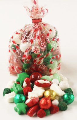 Scott's Cakes Christmas Deluxe Mix in a 1 Pound Candy Cane Bag