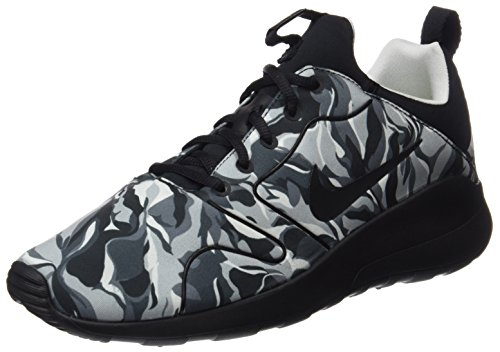 Nike Mens Kaishi 2.0 Stampa Scarpe Da Corsa Nero / Grigio-stampa Mimetica