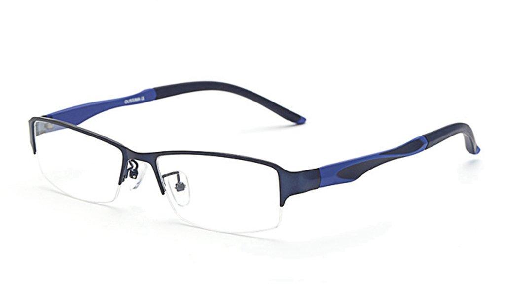 LUOMON Customize Prescription Glasses for Men Semi Rimless Business Eyeglasses with Titanium Alloy Frame EG002