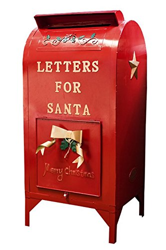 Gifts Delight Laminated 24x36 inches Poster: Santa Mailbox Christmas Xmas Mailbox Letter Red Mail Holiday