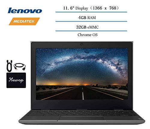 2020 Lenovo Chromebook 2ND Gen 11.6″ Laptop Computer for Business and Student, 11.6″ HD (1366 X 768) Display, 4GB RAM, 32GB eMMC, Chrome OS w/ HESVAP Accessories (MediaTek MT8173C)