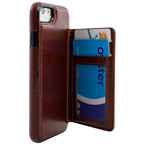 Best Quality Apple iphone 7 Case cover, Apple iPhone 7 Brown Designer 2-1 Multi-function Detachable Magnetic 3 Card Slots Wallet Style Wallet Case Cover
