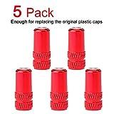 Presta Valve Stem Caps Red(4 Colors) French Style