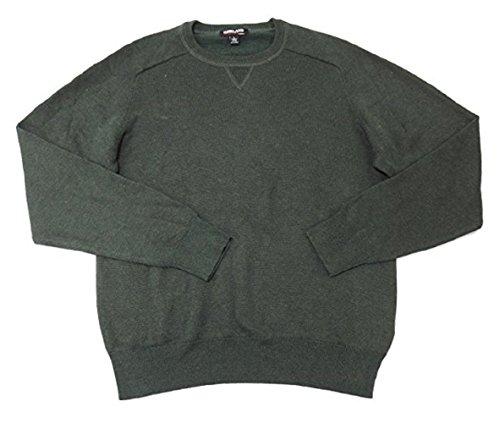 Kirkland Signature Men's Extra Fine Merino Wool and Pima Cotton Sweater (Medium, Olive)