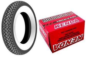 1 neumático Kenda K 333 con banda blanca tamaño 3.00 - 10 con 1 Cámara de aire Kenda Kenda para Vespa 50 special: Amazon.es: Coche y moto