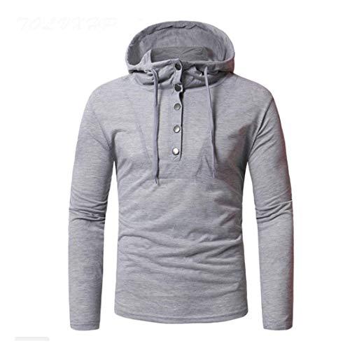 Slim T colore Uomo Dimensione Abbigliamento Asian Manica Corta Bottoni Scuro Fit Fuweiencore Personalità Tshirt Size shirt Grigio Shirt T Moda Xl xfBw68nqY