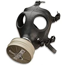 Israeli Rubber Respirator Mask NBC Protection For Industrial Use, Chemical Handling, Painting, Welding, Prepping with Drinking Straw/Tube