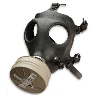 Israeli Rubber Respirator Mask NBC Protection For Industrial Use, Chemical Handling, Painting, Welding, Prepping with Drinking Straw/Tube ()