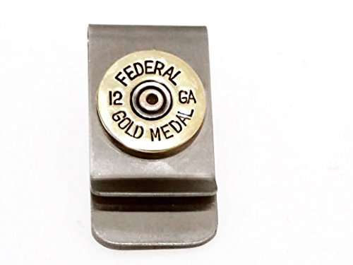 12 gauge Brass Shotgun Shell Money Clip Gift Accessory Jewelry for Men Fathers Day Groom Wedding (Wedding Gauges)