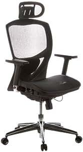 hjh OFFICE 657000 VENUS ONE Silla de oficina, tejido en malla negro