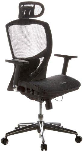 nouvelle arrivee 3da0b e2489 hjh OFFICE 657000 chaise de bureau VENUS ONE tissu maille noir fauteuil de  direction haut de gamme