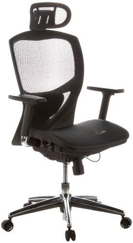 HJH OFFICE 657000 Bürostuhl / Chefsessel Venus One Netzstoff, schwarz