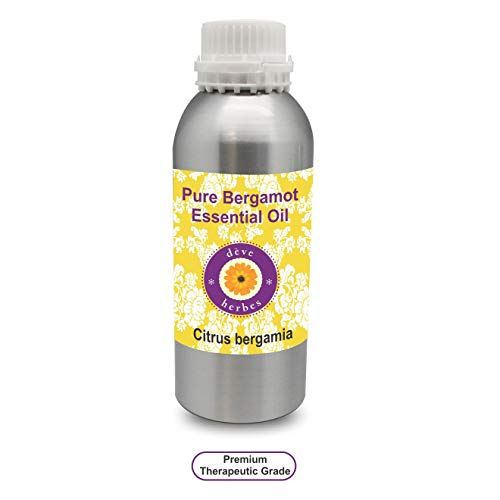 Deve Herbes Pure Bergamot Essential Oil (Citrus bergamia) 100% Natural Therapeutic Grade Steam Distilled 300ml (10.1 oz) - Bergamot Herb