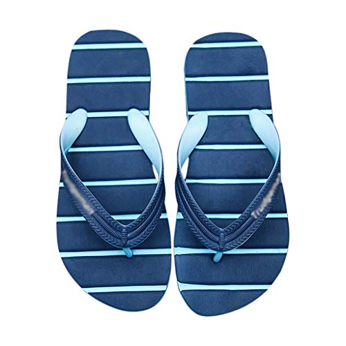 43 Azules Deporte Rayas Chanclas Antideslizantes HUYP De Hombre Tamaño Al De Libre Aire con Zapatillas Sandalias Verano 8a51zxnnv