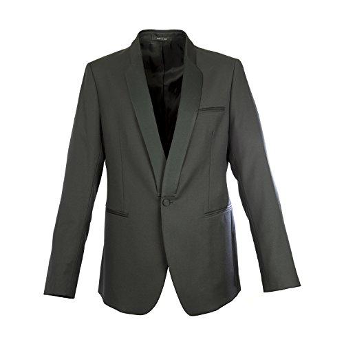 Emporio Armani Men's Black Wool Johnny Line Blazer IT 50R Black