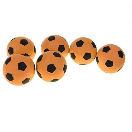 kesoto 6 Unidades Mini Balón De Fútbol De Espuma Suave Juguete De Diversión Interección De Hijos Mascotas - naranja