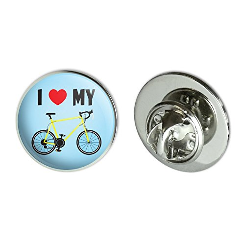 Road Bike Pin (I Love My Bike Road Bicycle Cycling Metal 0.75