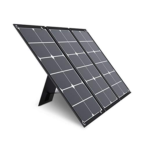 Jackery SolarSaga 60W Solar Panel for Explorer 160/240/500 and HLS290 as Portable Solar Generator, Portable Foldable Solar Charger for Summer Camping Van RV(Can't Charge Explorer 440/ PowerPro)