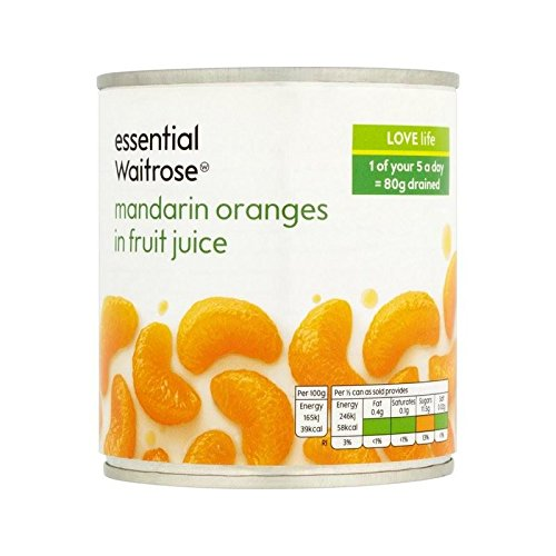 Mandarin Oranges in Fruit Juice essential Waitrose 295g - Pack of 6