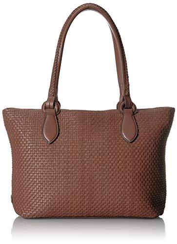 Cole Haan Women's Bethany Woven Leather Zip Tote, - Haan Top Zip Cole Tote